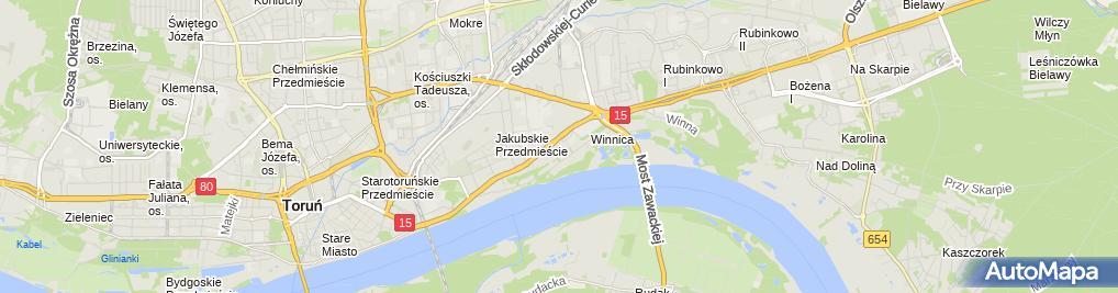 Zdjęcie satelitarne Centrum Organizacji Szkoleń Dorota Jakubczak
