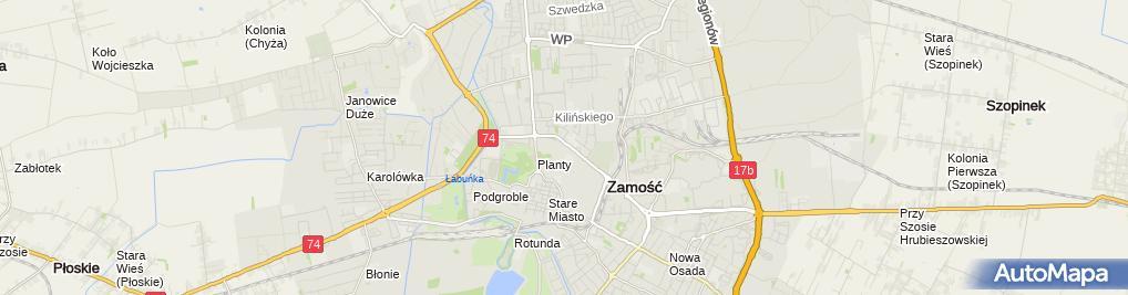 Zdjęcie satelitarne Centrum Pyszniak Joanna Nowak Janusz