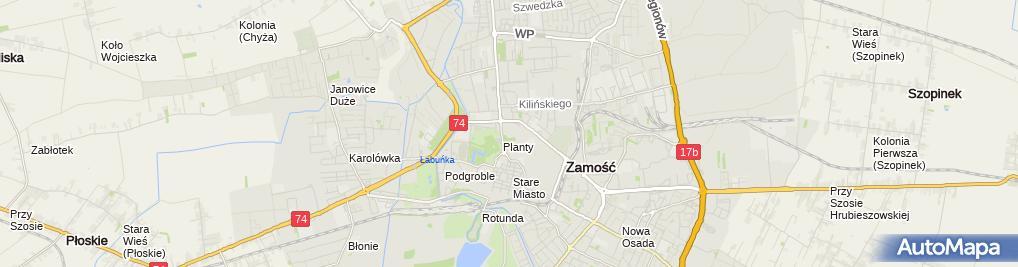 Zdjęcie satelitarne Centrum Szkoleń Mobilnych Edyta Goryczka