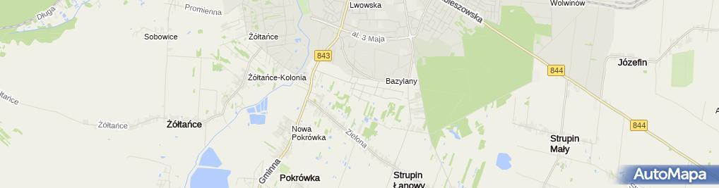 Zdjęcie satelitarne Chedrób Ewa i Marek Krakiewicz