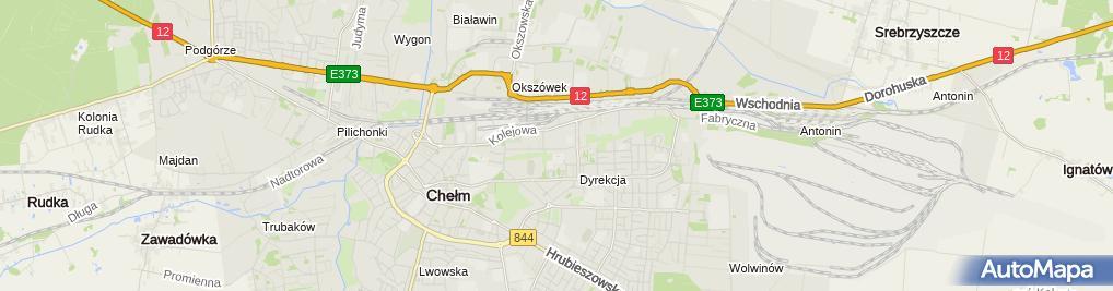 Zdjęcie satelitarne Chełmskie Centrum Pomocy Dziecku i Rodzinie