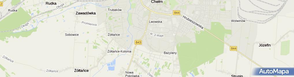 Zdjęcie satelitarne Chełmskie Stowarzyszenie Inicjatyw Społecznych
