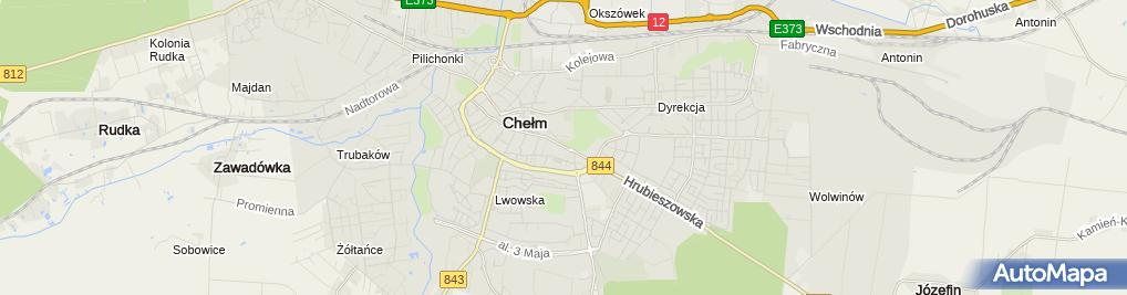 Zdjęcie satelitarne Chełmskie Towarzystwo Naukowe