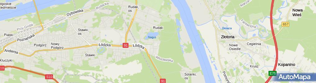 Zdjęcie satelitarne Chmurzyński Roman Stolarstwo Wyrób Galanterii
