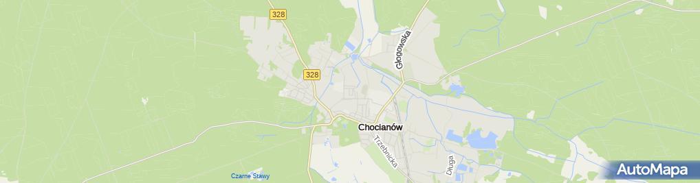 Zdjęcie satelitarne Chocianowskie Stowarzyszenie Pomocy Dzieciom i Dorosłym Specjalnej Troski