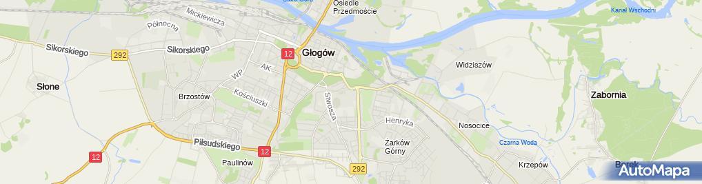 Zdjęcie satelitarne Chrobry Głogów