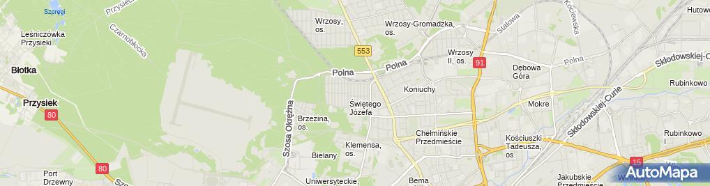 Zdjęcie satelitarne Cistor Przedsiębiorstwo w Organizacji