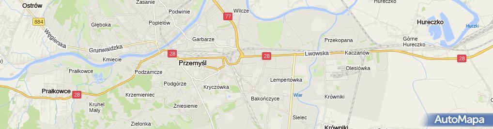Zdjęcie satelitarne Corner Przemyśl