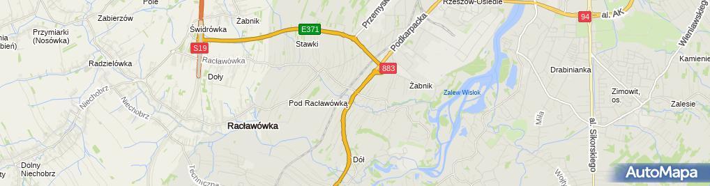 Zdjęcie satelitarne Cukiernia U Żyrka Bernard Żyradzki