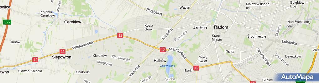 Zdjęcie satelitarne Dach Komplex Przedsiębiorstwo Handlowo Usługowe