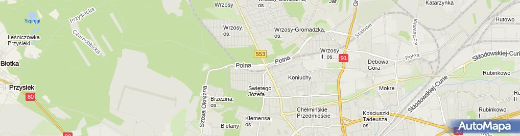 Zdjęcie satelitarne Dagropol w Likwidacji