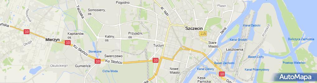 Zdjęcie satelitarne Daprico