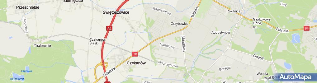 Zdjęcie satelitarne Design Center Maria Kwaśniewska