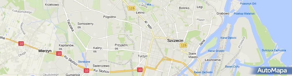 Zdjęcie satelitarne Design Service Przemysław Kapella