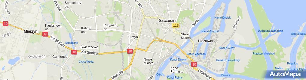 Zdjęcie satelitarne Dietetyk Szczecin Vita-Slim Agnieszka Kowieska