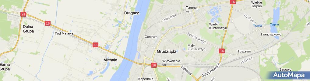 Zdjęcie satelitarne Dom Zakonny Zgromadzenia Księży Marianów w Grudziądzu
