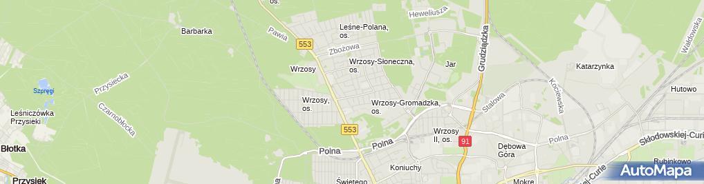 Zdjęcie satelitarne Dorey