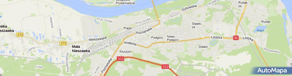 Zdjęcie satelitarne Dorota Drągowska Pracownia Projektowa 4D