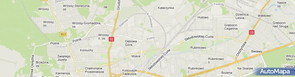 Zdjęcie satelitarne Drewpark Inwestycje