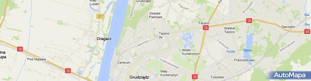 Zdjęcie satelitarne Drewpłyt Jerzy Wołoszyn Beata Wołoszyn Zgoda