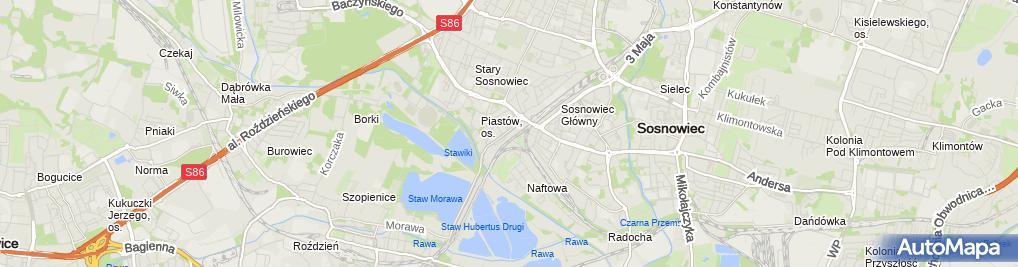 Zdjęcie satelitarne Dystrybucja Towarów