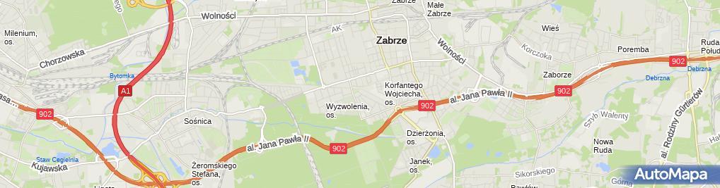 Zdjęcie satelitarne Efekt Firma Handlowo Usługowa