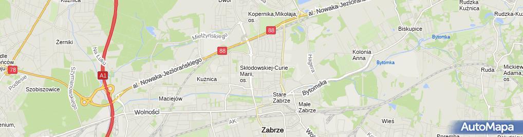 Zdjęcie satelitarne Ekocar Marian Basiński