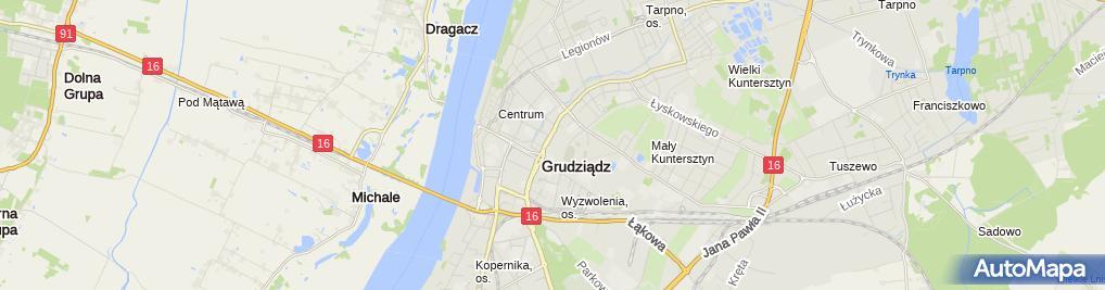 Zdjęcie satelitarne Elektro GSM Mateusz Pawlak