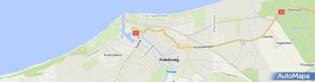 Zdjęcie satelitarne Elpro Prywatne Przedsiębiorstwo Handlowo Produkcyjne MGR Inż Bogdan Igliński Dorota Iglińska