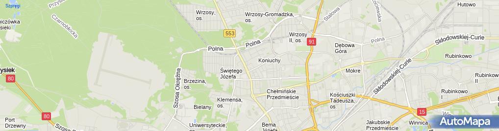 Zdjęcie satelitarne Eltom Pipczyńska Elżbieta Syrocka Janina