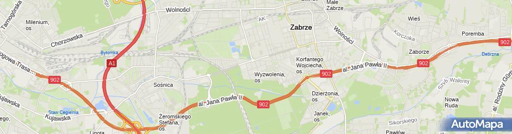 Zdjęcie satelitarne Elżbieta Czmoch