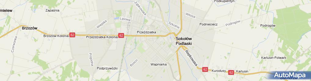 Zdjęcie satelitarne Elżbieta Szymańska - Działalność Gospodarcza