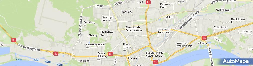 Zdjęcie satelitarne Emergens Kancelaria Radcy Prawnego Mariusz Kamiński