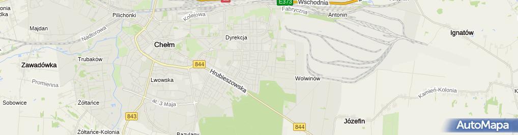 Zdjęcie satelitarne Emerla Anna Przedsiębiorstwo Handlowo Usługowe Mokasyn Jerzy Emerla Anna Emerla