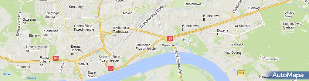 Zdjęcie satelitarne Emilia Pruchnicka Biuro Projektowe Zezuzulla