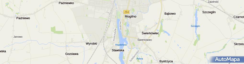 Zdjęcie satelitarne Europejskie Centrum Spotkań Wojciech Adalbert w Mogilnie