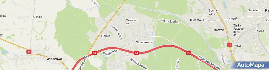 Zdjęcie satelitarne Ewa Komandzik - Działalność Gospodarcza