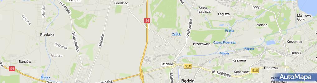 Zdjęcie satelitarne Ewa Kosińska - Działalność Gospodarcza
