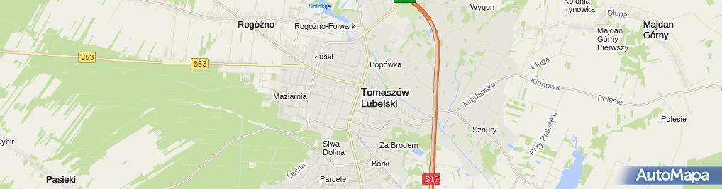 Zdjęcie satelitarne Ewa Kowal - Działalność Gospodarcza