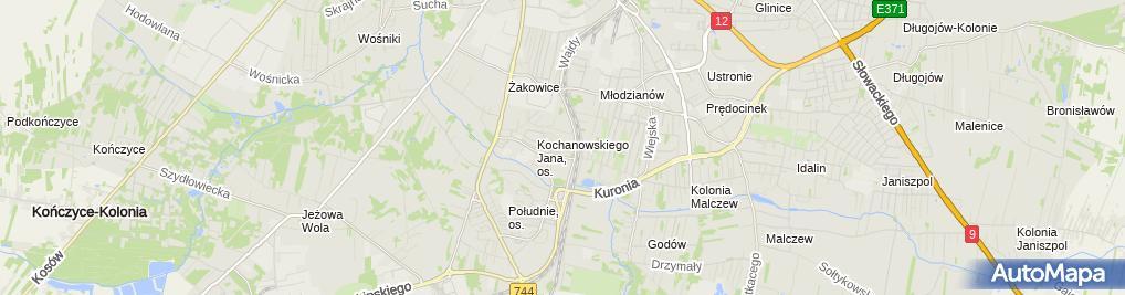 Zdjęcie satelitarne Ewa Koziarska - Działalność Gospodarcza