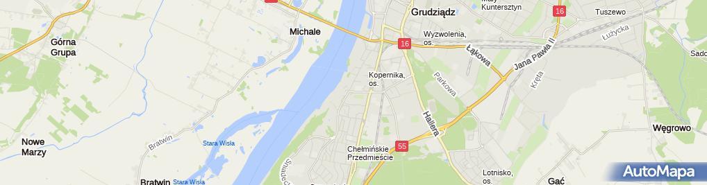 Zdjęcie satelitarne Ewa Mączkowska - Działalność Gospodarcza