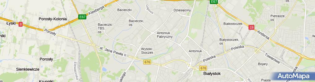 Zdjęcie satelitarne Ewa Żmieńko - Działalność Gospodarcza
