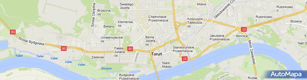 Zdjęcie satelitarne F.H.U.Anna Ponczek