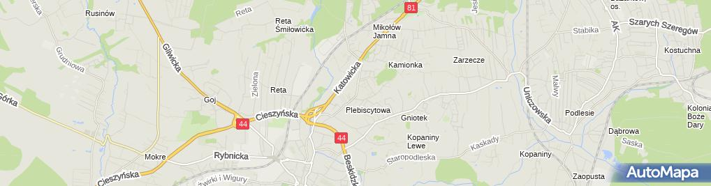 Zdjęcie satelitarne F.H.U.Hendor Henryk Kokoszka