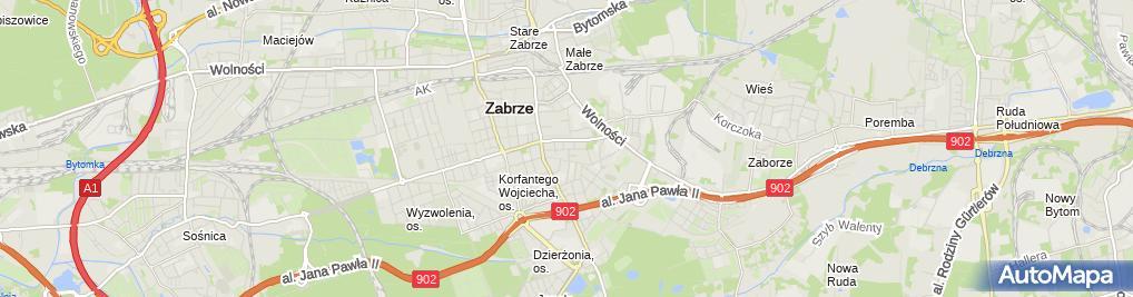 Zdjęcie satelitarne F.H.U Wika Żaneta Buczyńska