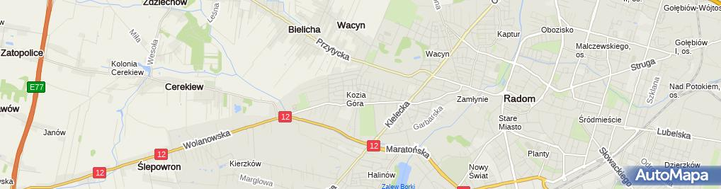 Zdjęcie satelitarne Falspeed Transport Międzynarodowy Falkiewicz Artur