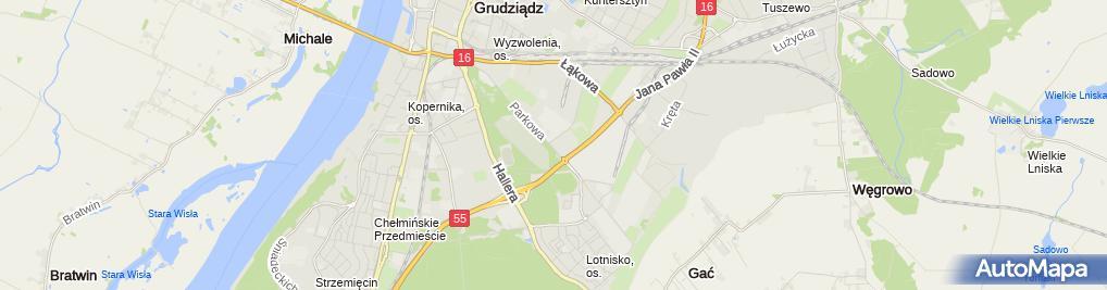 Zdjęcie satelitarne Fhu Elzet Zdzisław Lewandowski