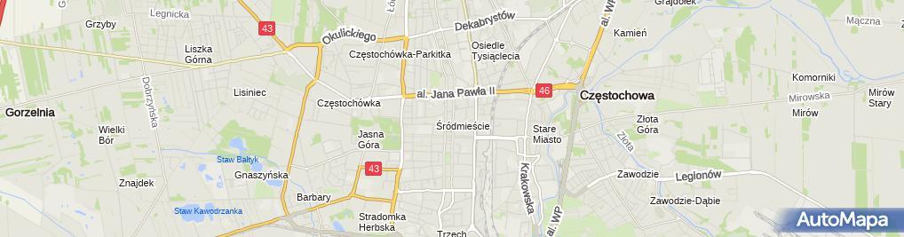 Zdjęcie satelitarne Filia nr 1 we Mstowie Centrum Treningowego Wojakowskich MGR