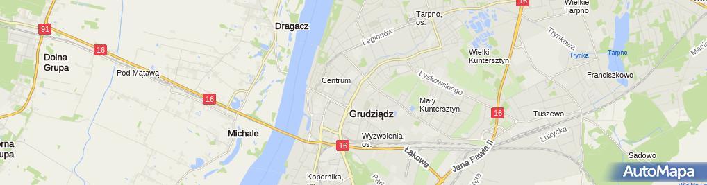 Zdjęcie satelitarne Firma Ambra Dariusz Gajda, Zakład Produkcji Drzwi Korona, Invest MG
