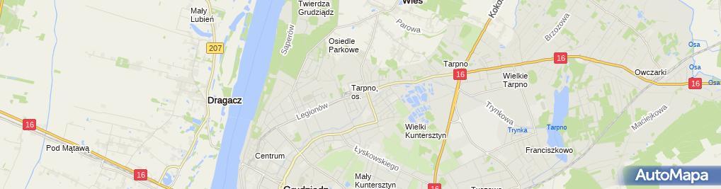 Zdjęcie satelitarne Firma Hand Usł Murawski i S Ka Murawski Feliks Krause Mieczysław